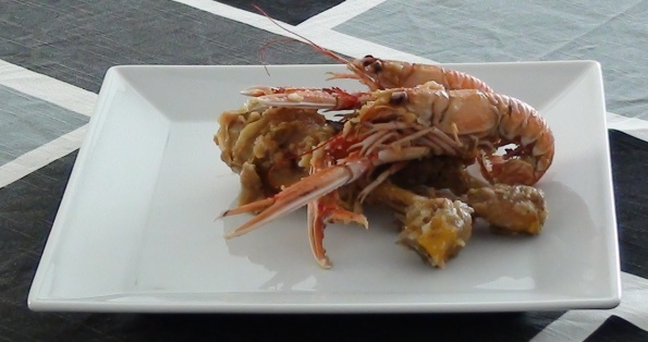 chicken with norway lobster