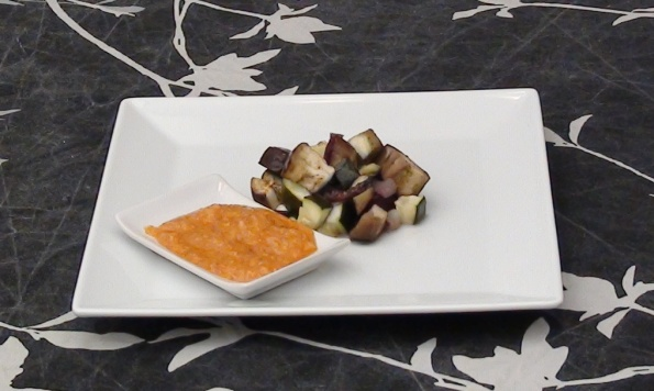 baked vegetables with romesco