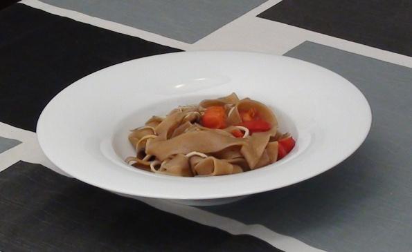 Eels with pasta