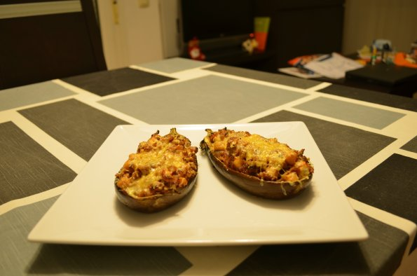 Stuffed egg plant