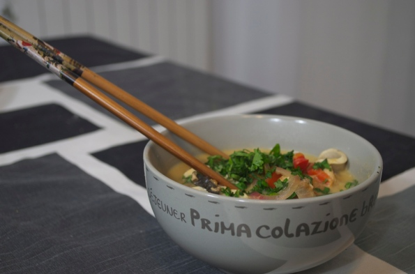 oconut and chicken thai soup